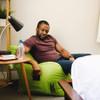 Big Joe Dorm Bean Bag Chair Lime Green with Adult Room
