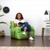 Big Joe Dorm Bean Bag Chair Lime Green with Teen Room
