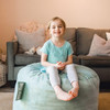 Big Joe Small Fuf Bean Bags for Kids with Toddler Turquoise Room