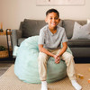 """Big Joe Small Fuf Bean Bags for Kids with Child Turquoise Room (Child is 3'9"""" tall)"""
