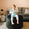 Big Joe Small Fuf Bean Bags for Kids with Toddler Black Room