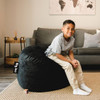 """Big Joe Small Fuf Bean Bags for Kids with Child Black Room (Child is 3'9"""" tall)"""