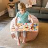 Big Joe Small Fuf Bean Bags for Kids with Toddler Desert Rose Room