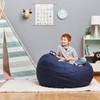 "Big Joe Medium Fuf Bean Bag with Kid Cobalt Blue Room (Kid in photo is 3'9"" tall)"