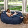 Big Joe Large Fuf Big Bean Bag Chair with Adult Fog Cobalt Blue Room
