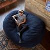 Big Joe XXL Fuf Giant Bean Bag with Adult Cobalt Blue Room