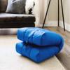 Big Joe Grab & Go Bean Bag Chairs Closed Coastal Blue Room
