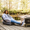 Big Joe Grab & Go Bean Bag Chairs with Adult Steel Gray Outside