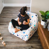 Big Joe Mid Mod Toddler Bean Bag Chair Dolce Terrazzo White Patterned Print Room