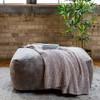 Big Joe Nestle Vegan Leather Large Bean Bag Ottoman Cement Room