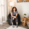 "SmartMax Big Joe Milano Bean Bag Chair with Adult Black Room (Adult is 5'4"" tall)"