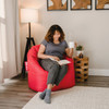 """SmartMax Big Joe Milano Bean Bag Chair with Adult Red Room (Adult is 5'4"""" tall)"""