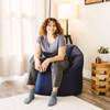 "SmartMax Big Joe Milano Bean Bag Chair with Adult Navy Room (Adult is 5'4"" tall)"