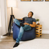 "SmartMax Big Joe Milano Bean Bag Chair with Adult Navy Room 2 (Adult is 5'8"" tall)"