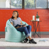 Plush Big Joe Milano Bean Bag Chair with Adult Mint Room