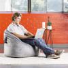 Plush Big Joe Milano Bean Bag Chair with Adult Gray Room