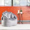Plush Big Joe Milano Bean Bag Chair Gray Room