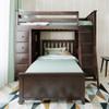 Silas Espresso L Shape Loft Bed Front View Room