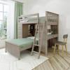Kivik Sand L Shape Loft Bed Right Side Angled View Room