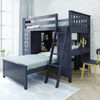 Baldwin Blue L Shape Loft Bed Right Side Angled View Room