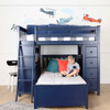 Baldwin Blue L Shape Loft Bed Front View with Child Room