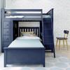 Baldwin Blue L Shape Loft Bed Front View Room