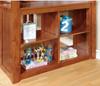 Travis Loft Bed with Desk and Storage oak storage detail