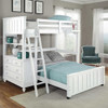 Park Place White Twin over Full L Shaped Loft Bed Room