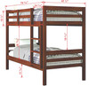 Polk County Twin over Twin Bunk Bed Dimensions
