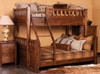 Montana Twin over Full Bunk Bed Chestnut