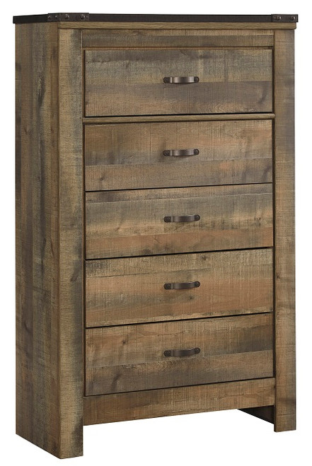 Ramada Plank 5 Drawer Chest Distressed Brown