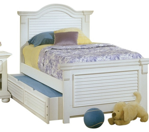 Seabrook Cottage White Twin Panel Bed
