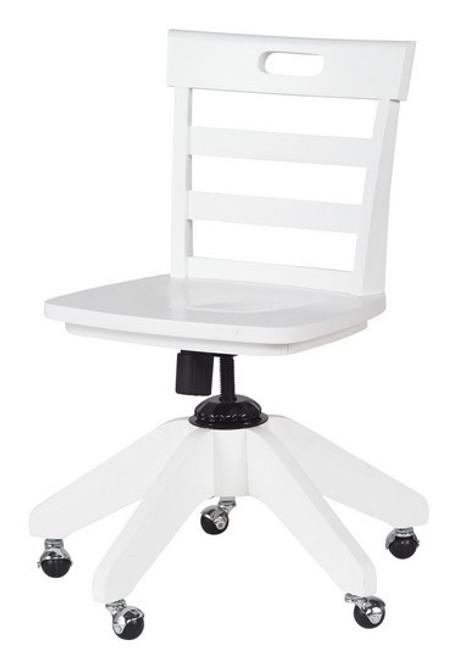 Stella White Kids Desk Chair
