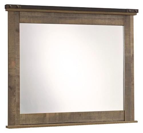 Ramada Plank Dresser Mirror Distressed Brown
