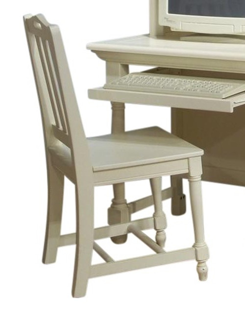 Seabrook Cottage White Desk Chair