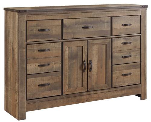 Ramada Plank Door Drawer Dresser Distressed Brown