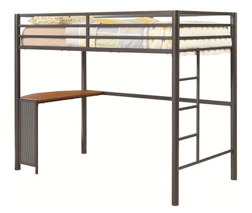 Sega Metal Twin Loft Bed with Desk