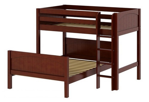 Lingo Chestnut Twin over Full L Shaped Bunk Beds