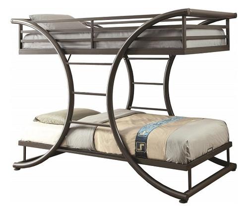 Belden Gray Metal Bunk Beds