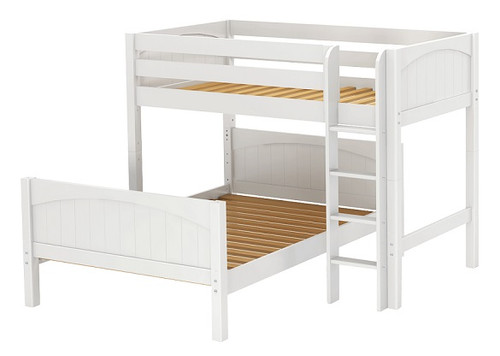 Lingo White Twin over Full L Shaped Bunk Beds