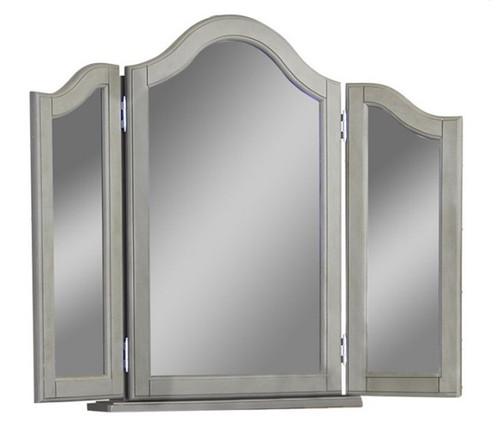 Boardwalk Stone Gray Tri Fold Vanity Mirror