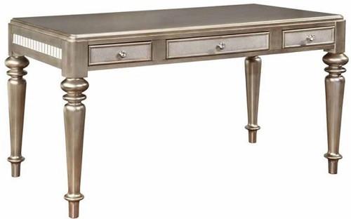 Belle Maison Writing Desk Metallic Platinum