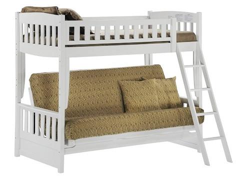 Hollywood White Futon Bunk Bed