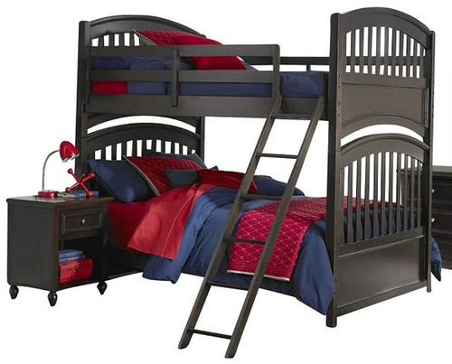 Clemson Twin over Twin Bunk Bed Molasses