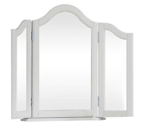 Park Place White Tri Fold Vanity Mirror