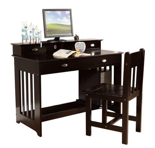 Huntington Espresso Student Desk with Hutch