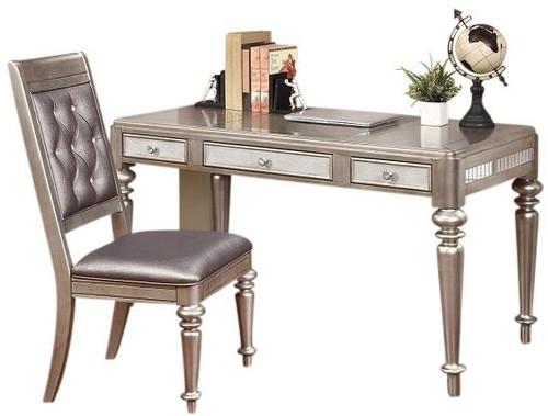 Belle Maison Writing Desk Chair Metallic Platinum