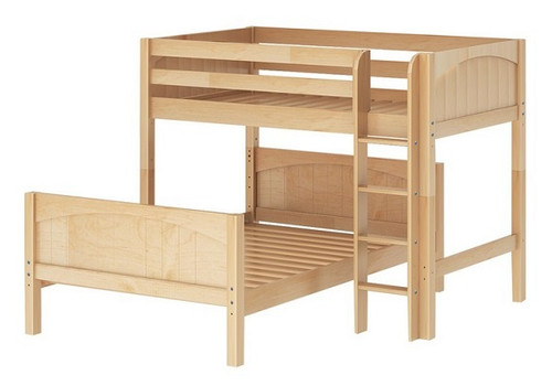 Lingo Natural Twin over Full L Shaped Bunk Beds