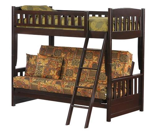 Westwood Chocolate Futon Bunk Bed