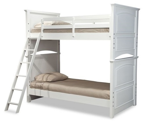 Daphne White Bunk Beds for Girls twin size